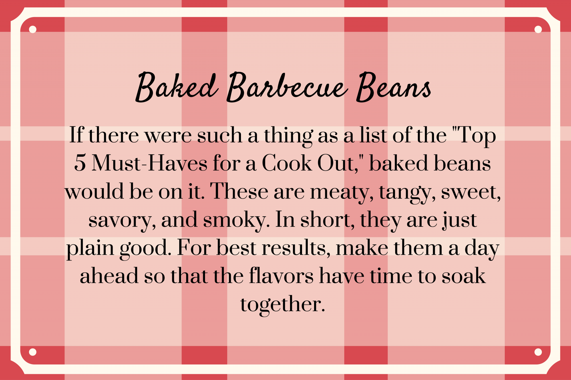 Baked Barbecue Beans Recipe Secret