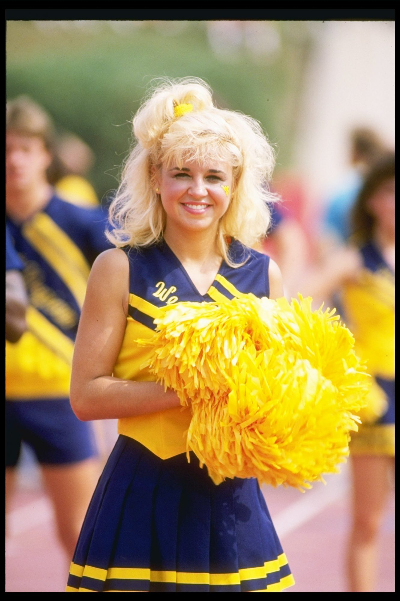 West Virginia Mountaineer Cheerleader