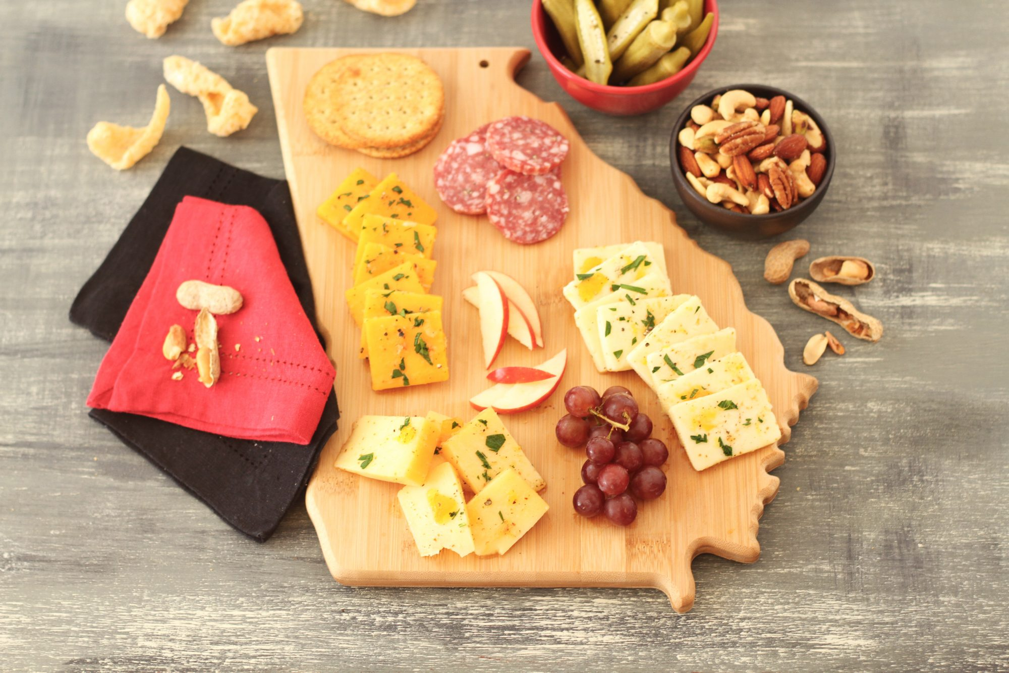 Georgia Peach Jezebel Marinated Cheese Board