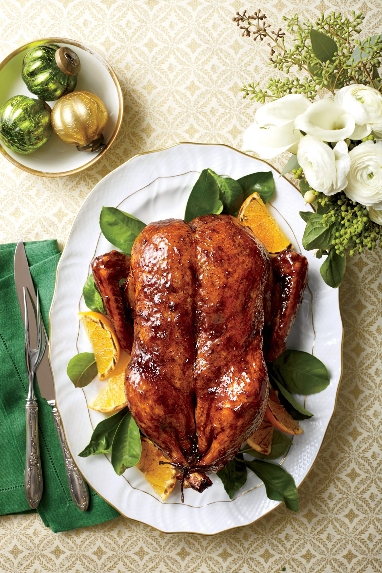 Roasted Duck with Orange-Bourbon-Molasses