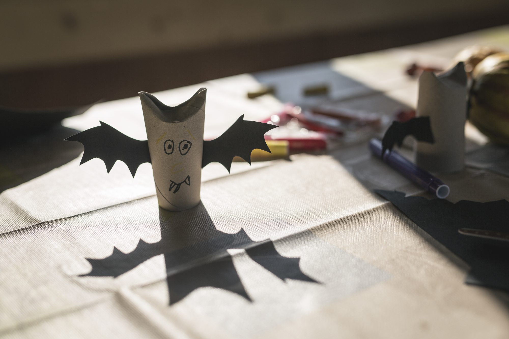 Vampire Bat Halloween Craft