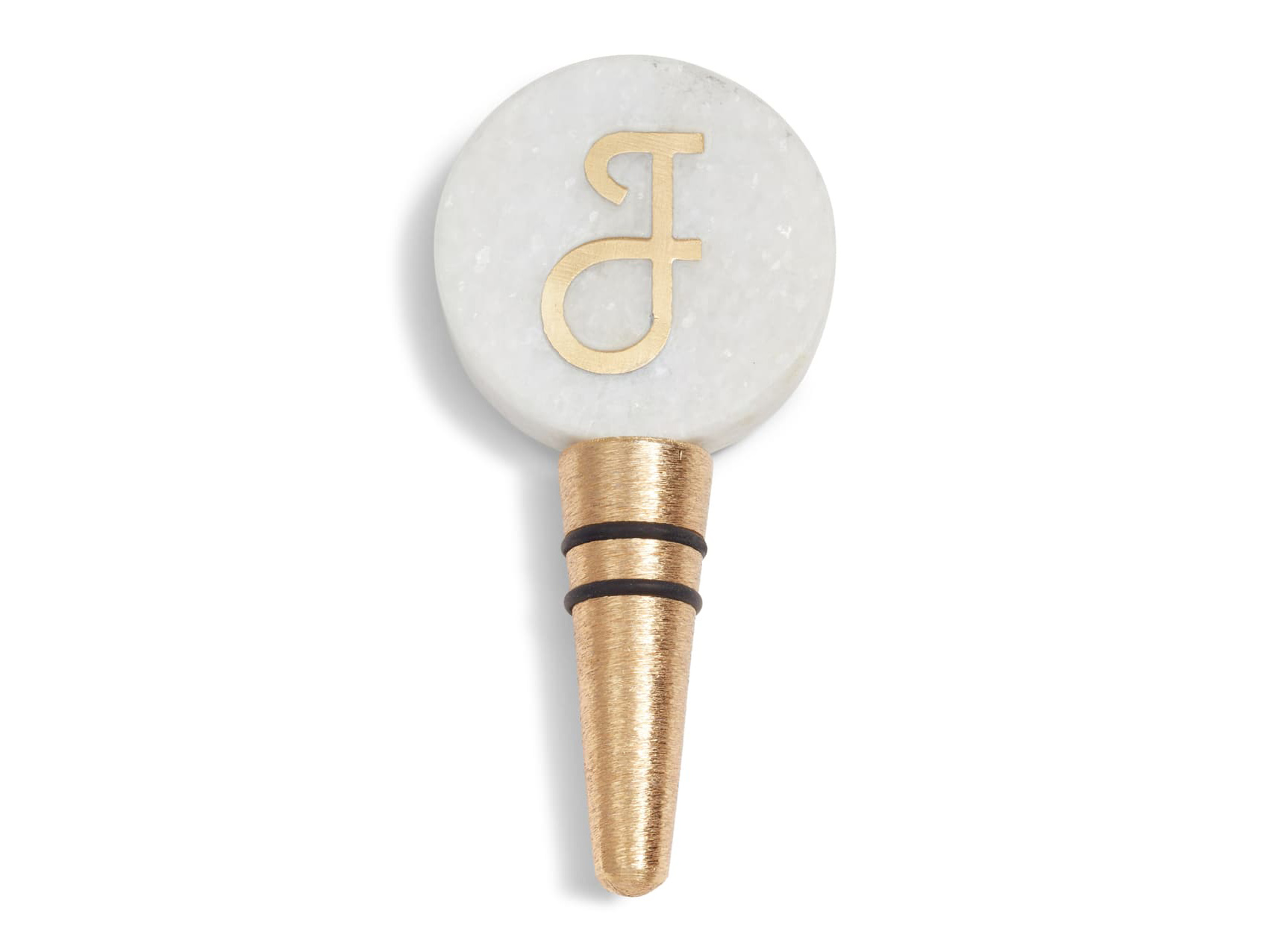 Monogram Marble Bottle Stopper