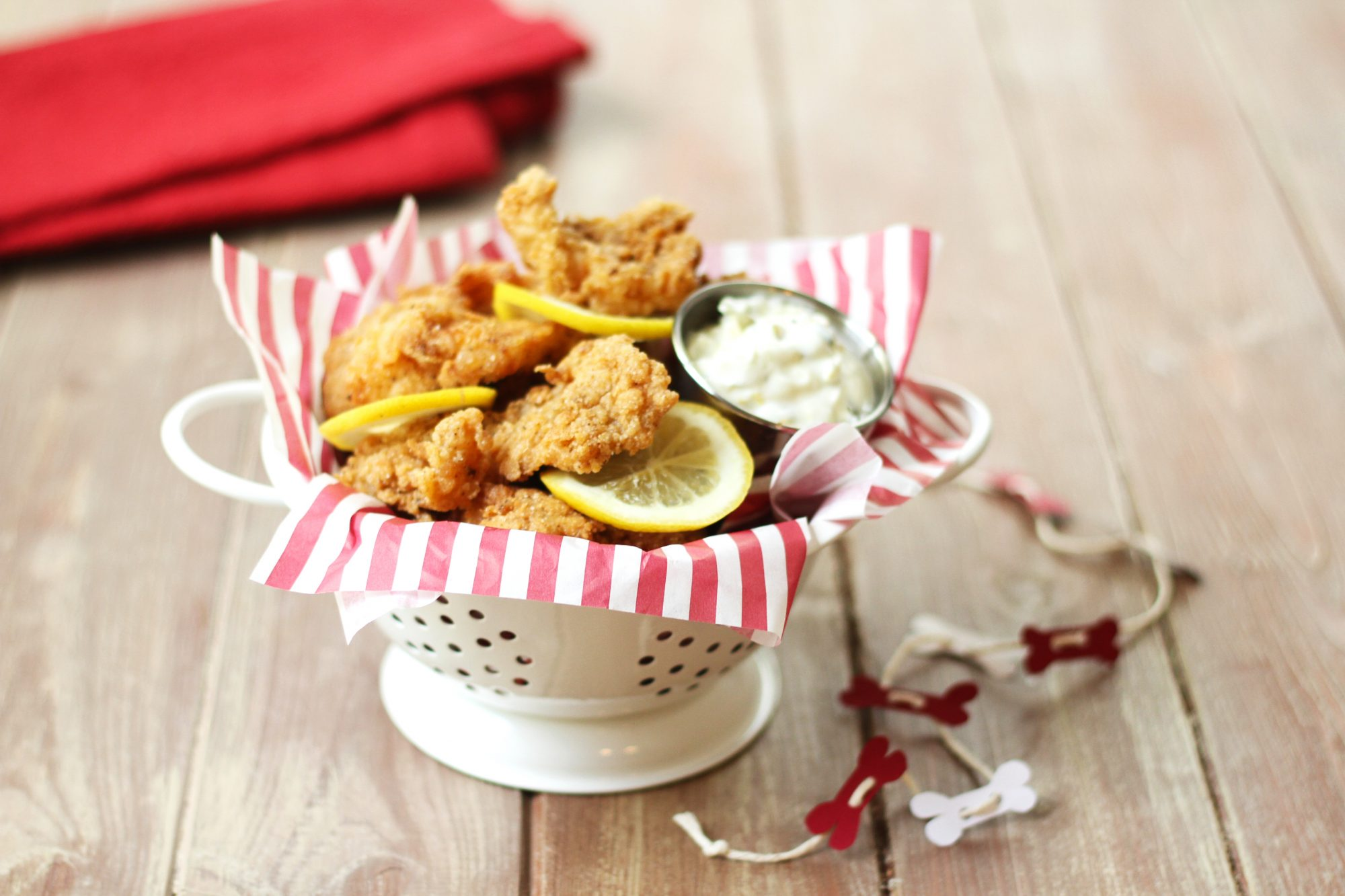 Fried Catfish Bites with Spicy Yogurt Tartar Sauce