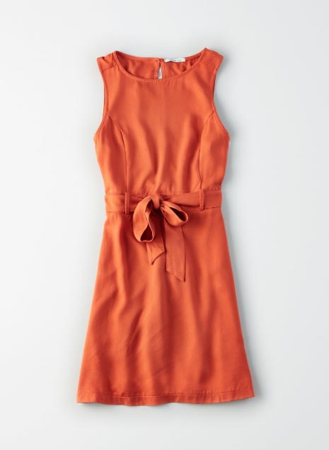 High Neck Tie Dress