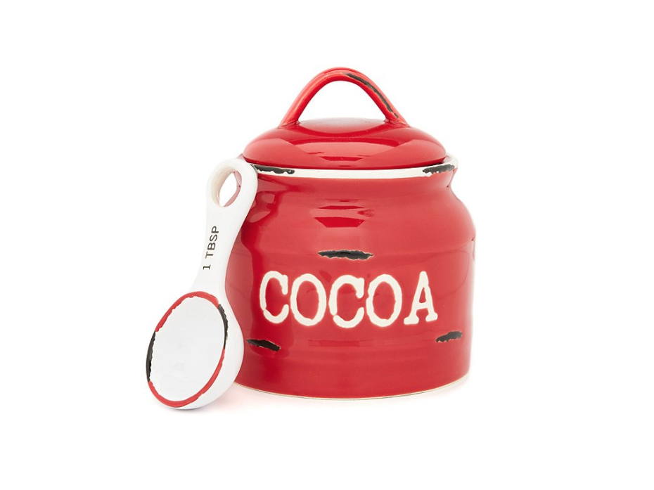Southern Living Red Cocoa Jar with Spoon