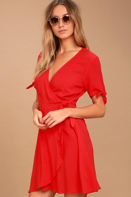 Gauzy Wrap Dress