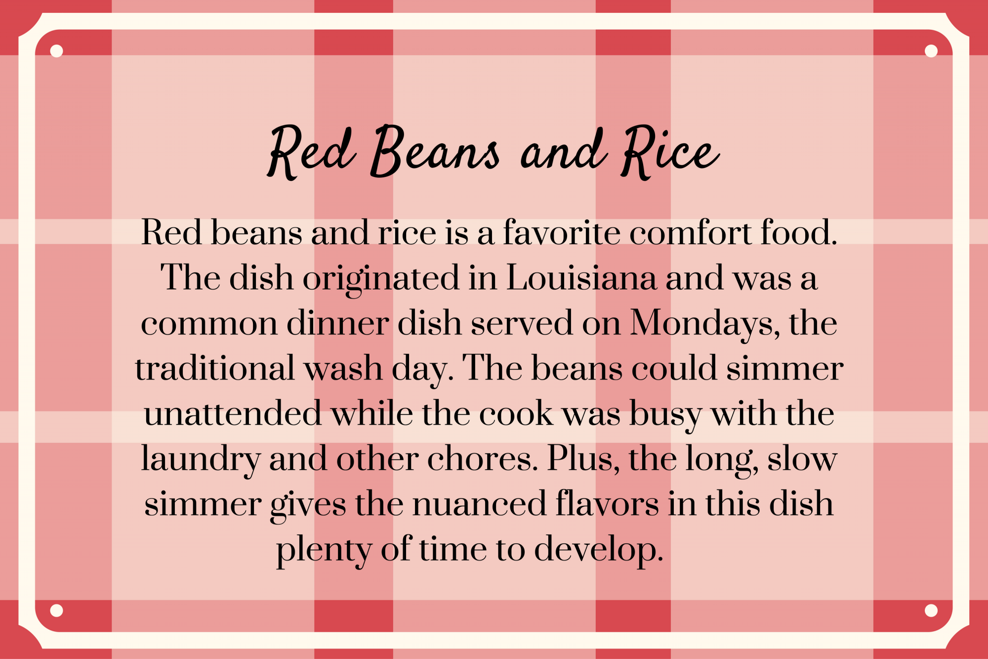 Red Beans and Rice Recipe Secret