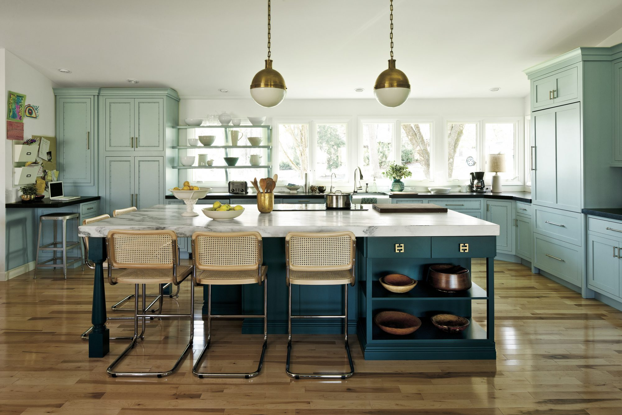 Amie Corely Teal Kitchen