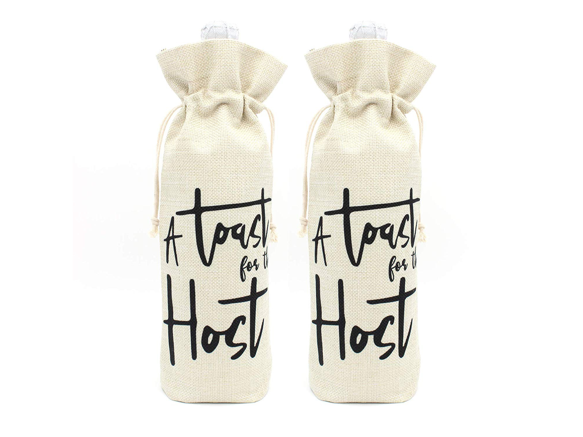 A Toast for the Host Wine Bottle Bags