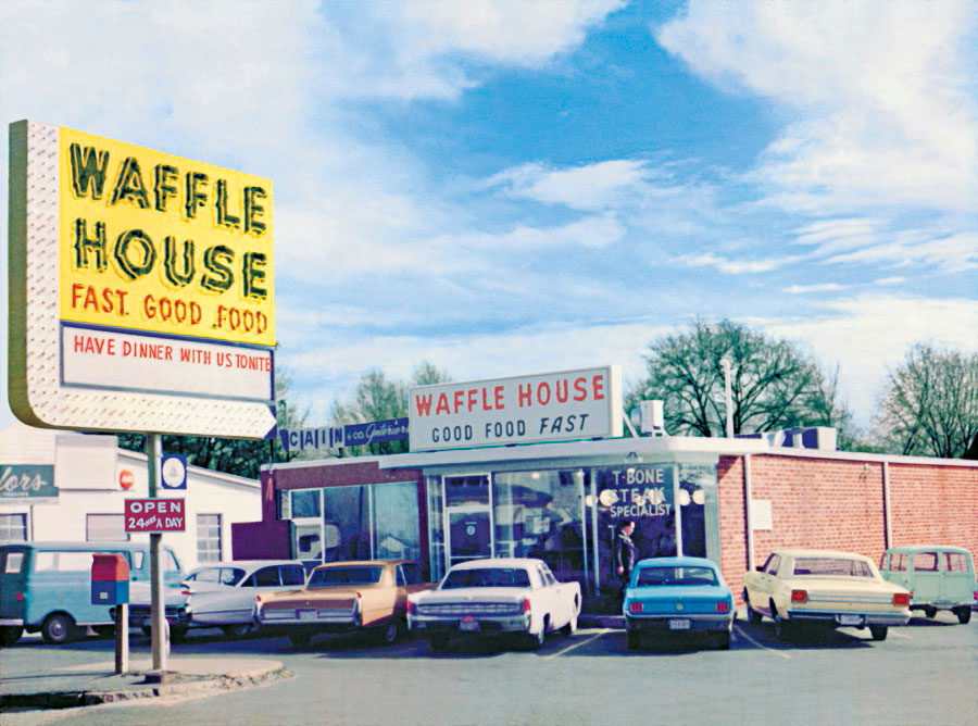 Vintage Waffle House Museum in Decatur, Georgia.