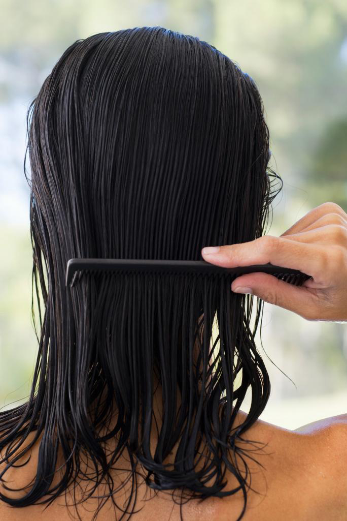 Combing Your Hair to Air Dry Your Hair