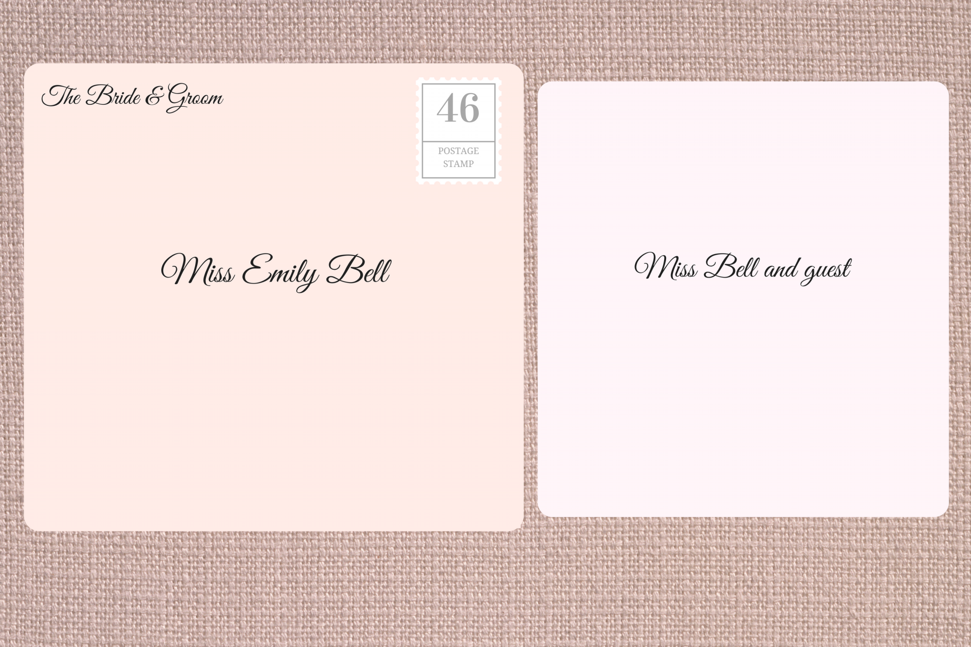 Addressing Double Envelope Wedding Invitations to Single Woman