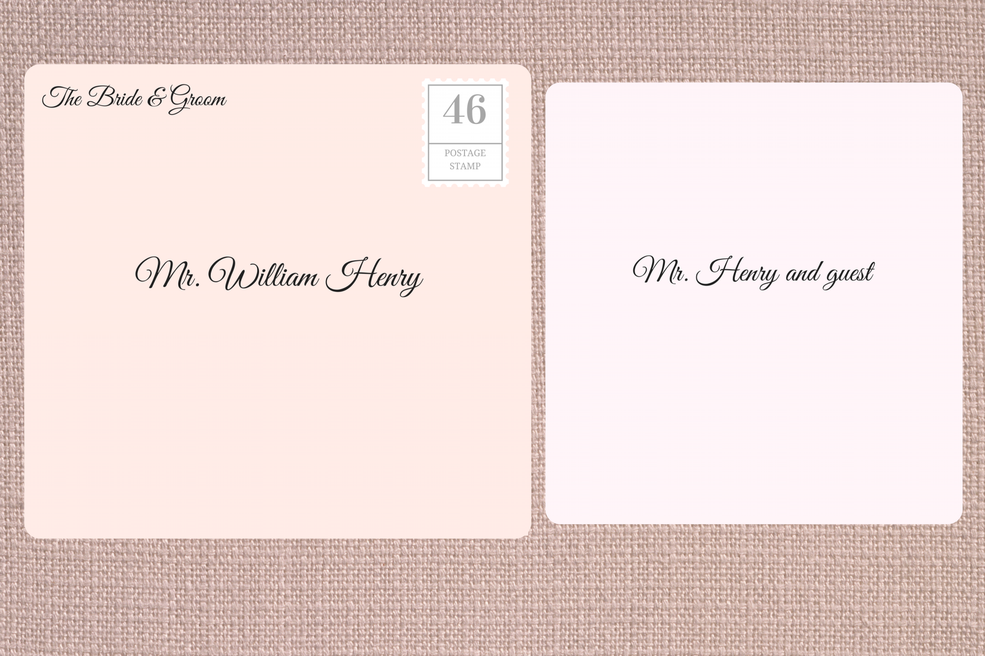 Addressing Double Envelope Wedding Invitations to Single or Divorced Man