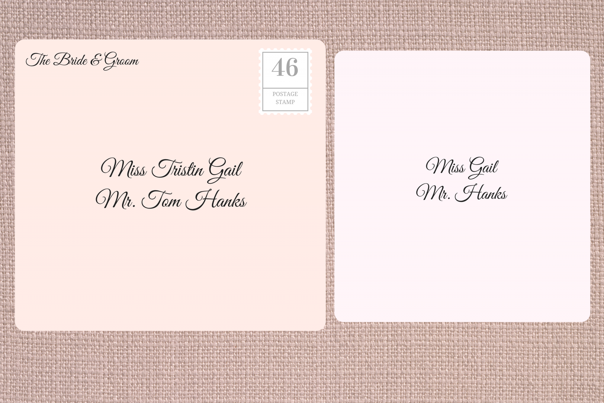 Addressing Double Envelope Wedding Invitations to Friend with Known Guest