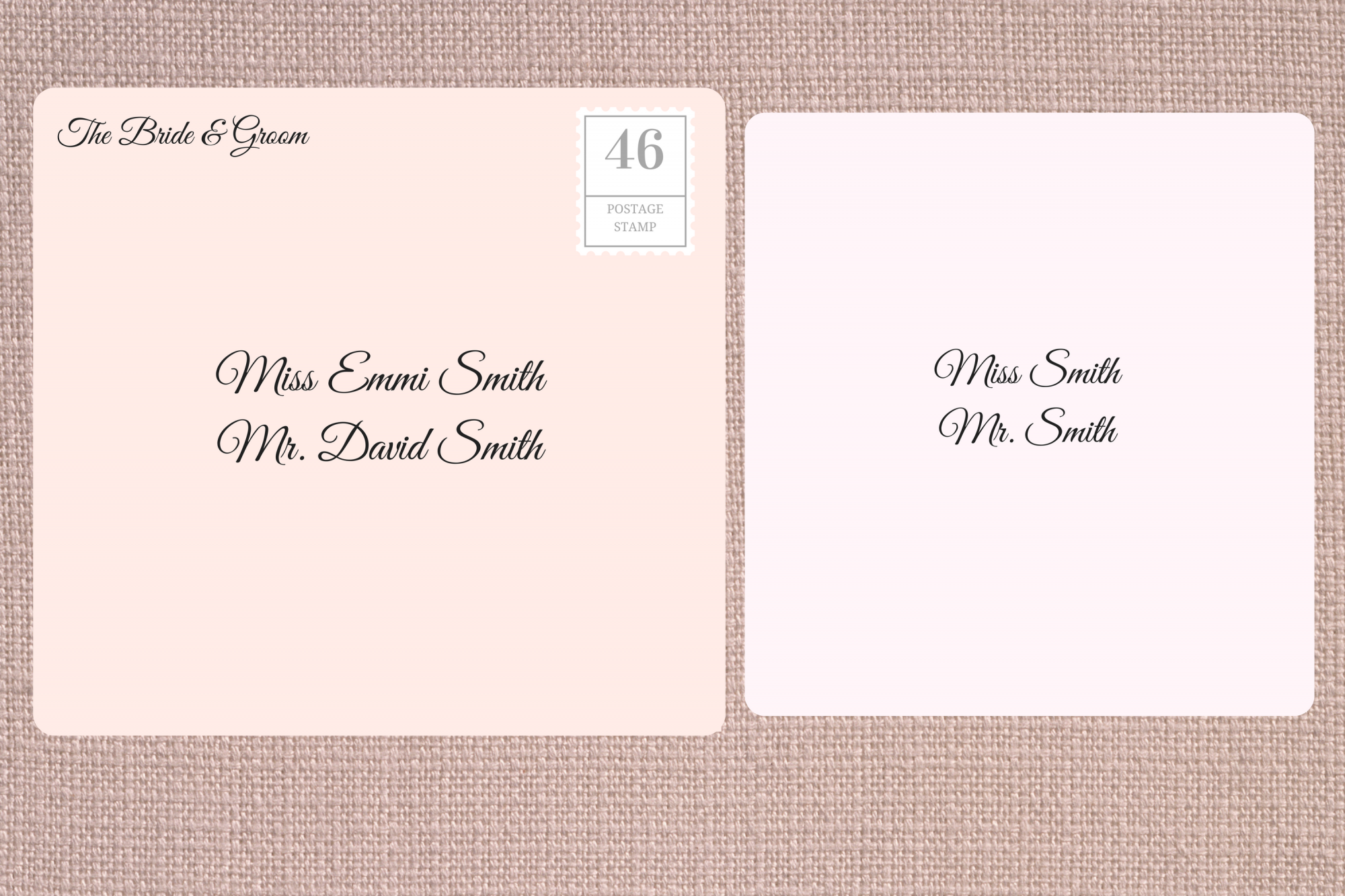 Addressing Double Envelope Wedding Invitations to Family with Adult Children