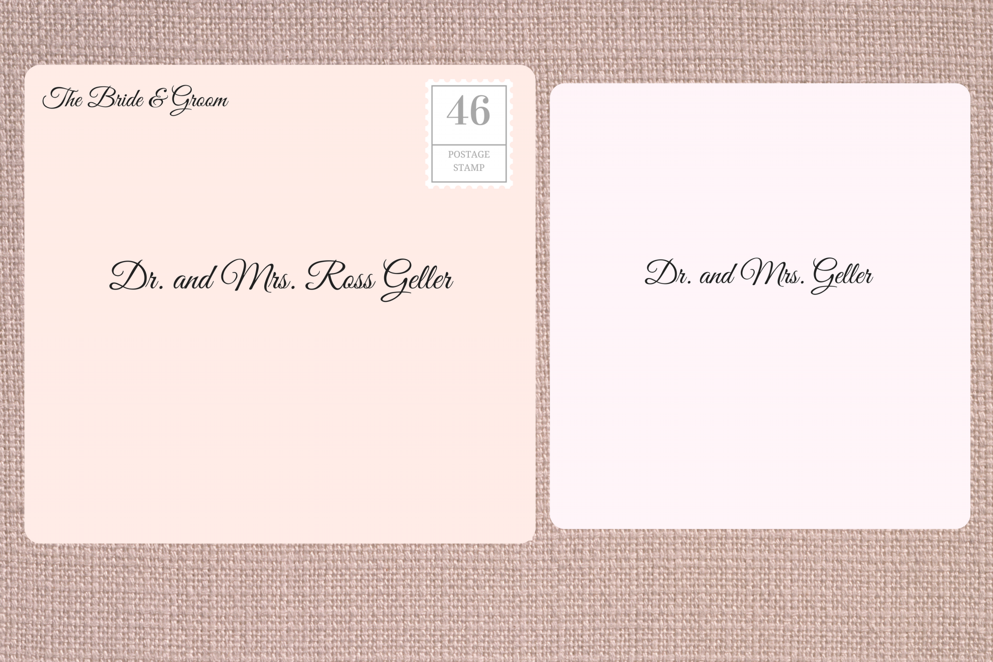 Addressing Double Envelope Wedding Invitations to Academic Doctor