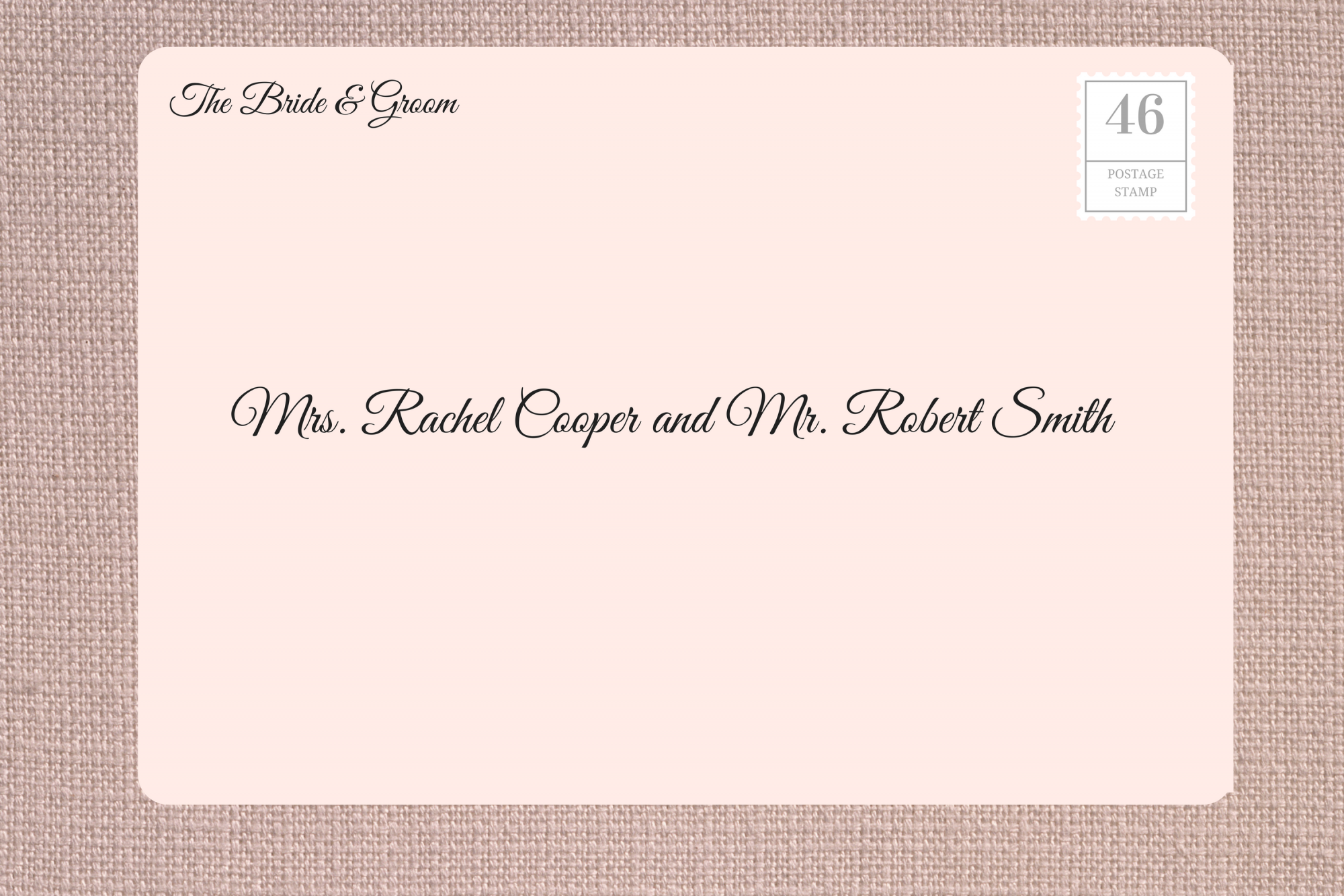 Addressing Wedding Invitations to Married Couple with Maiden Name