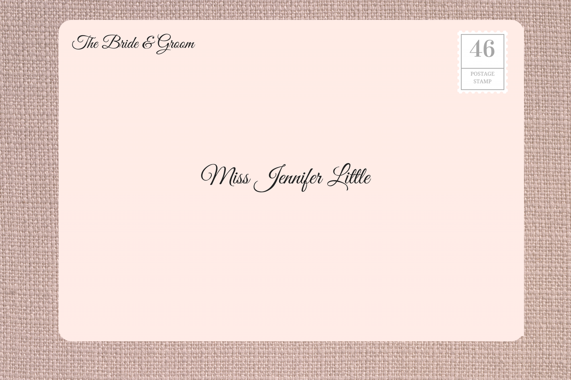 Addressing Wedding Invitations to Single Woman