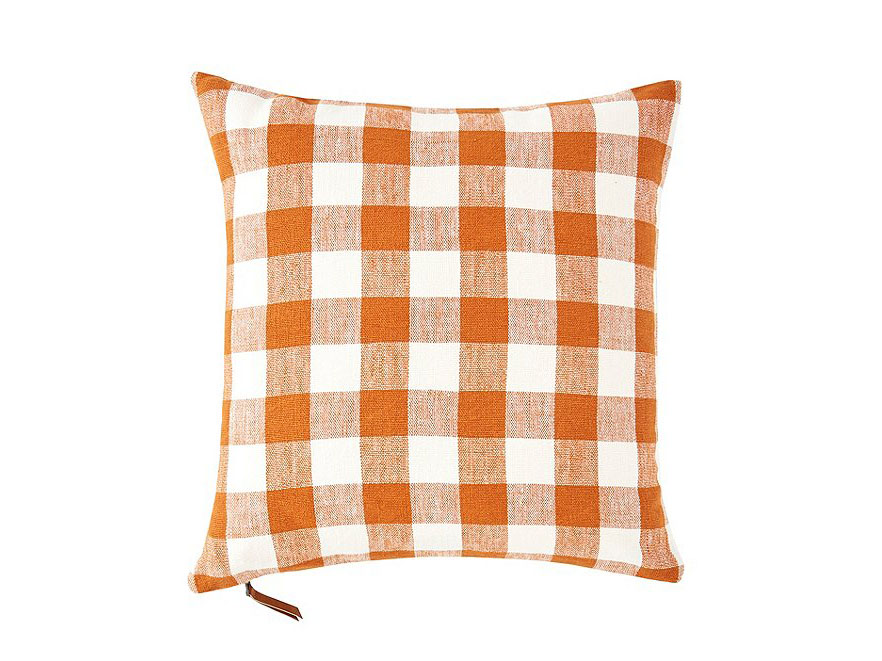 Southern Living Festive Fall Collection Buffalo Check Plaid Square Pillow