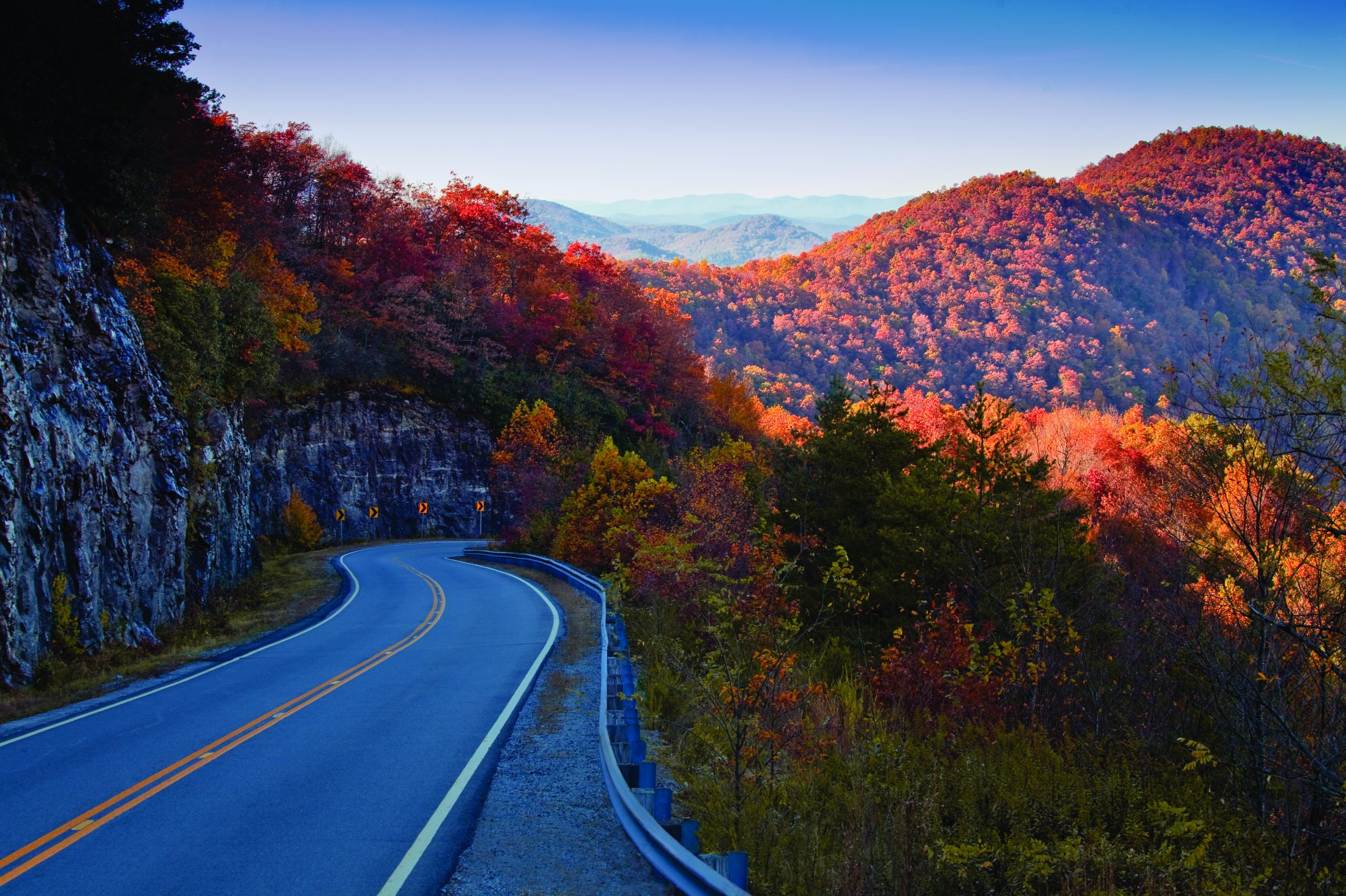 Russell-Brasstown Scenic Byway Fall Color