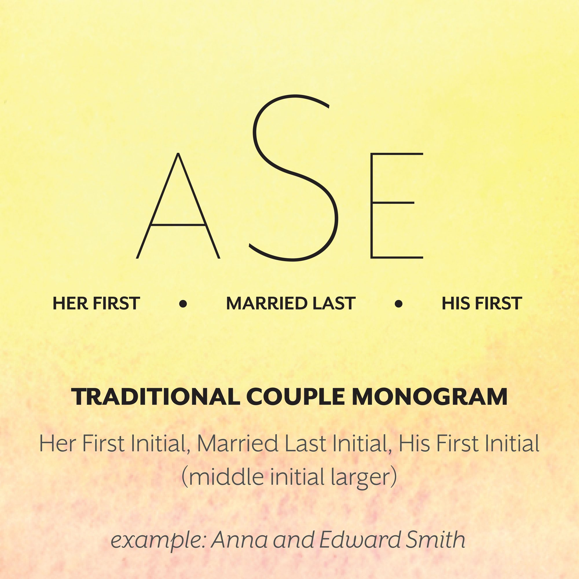 Traditional Couple Monogram