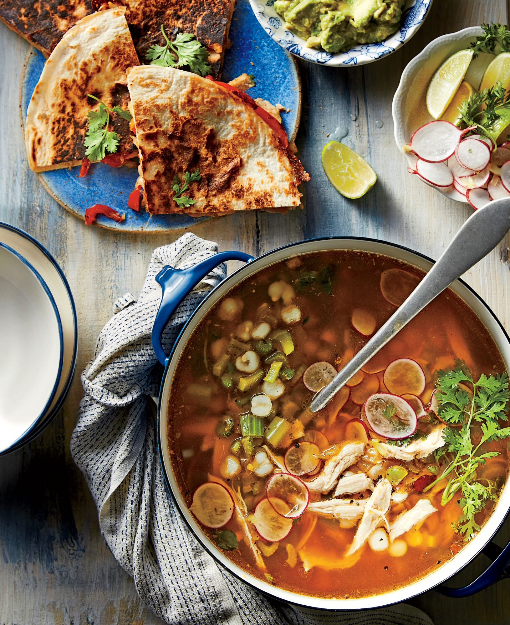 Green Chile-Turkey Soup with Hominy Recipe