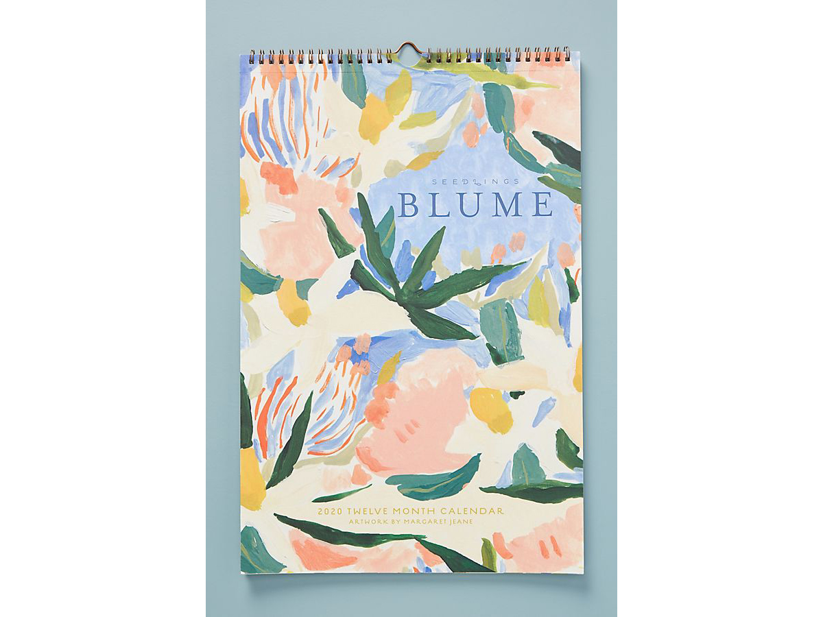Seedlings Blume 2020 Wall Calendar