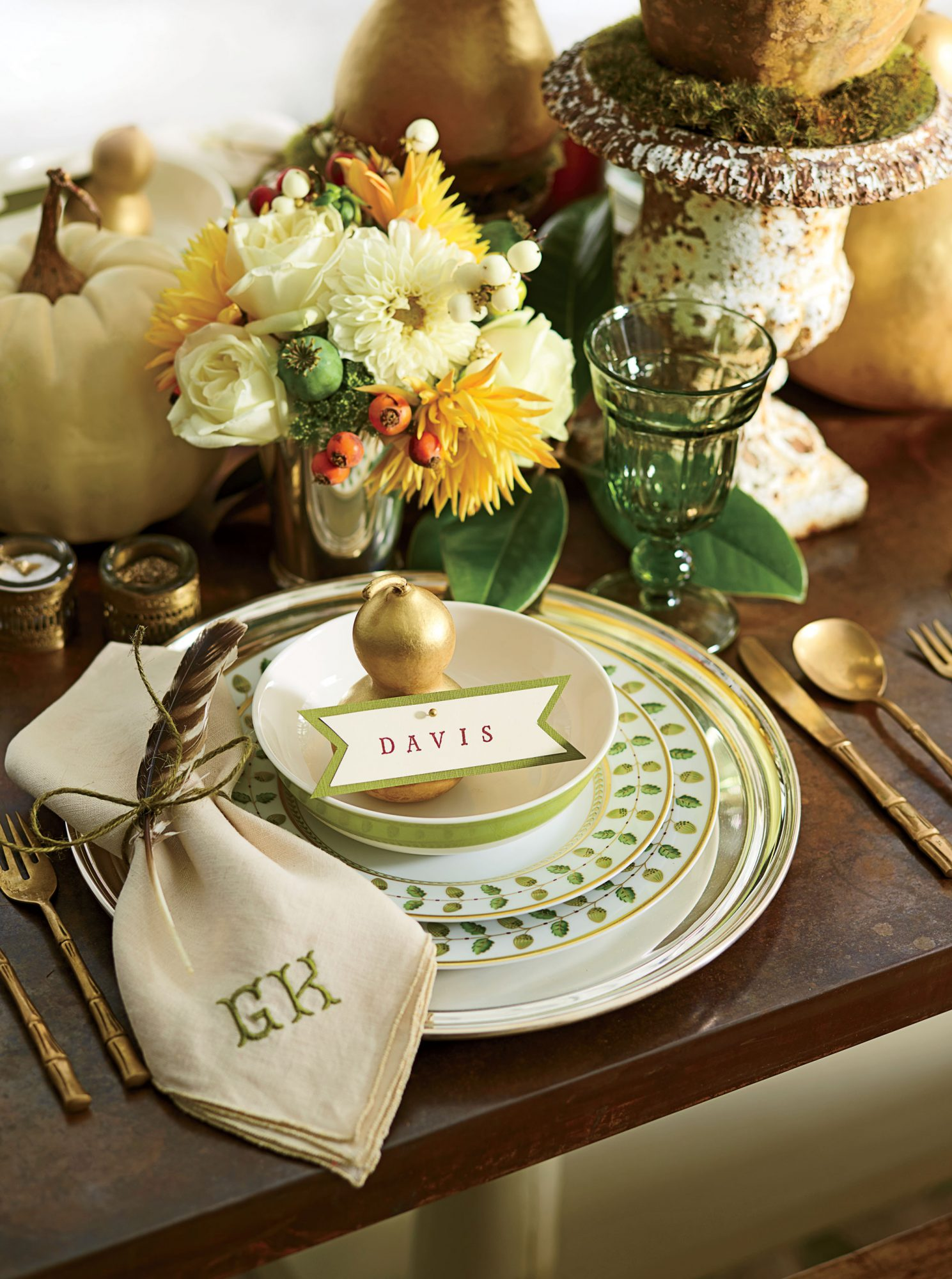 Down-to-Earth Table Setting by Gena Knox