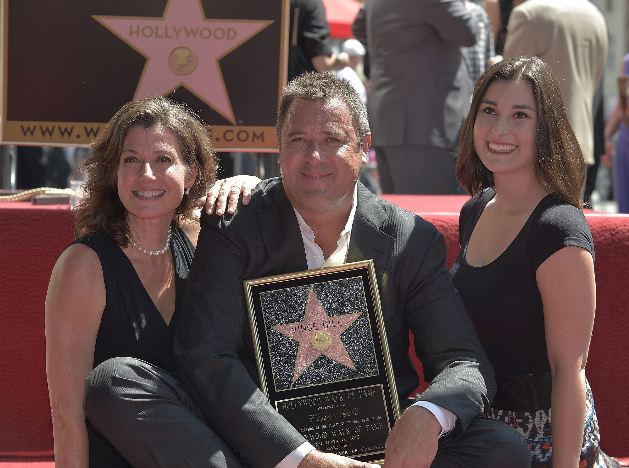 Vince Gill Amy Gill Jenny Gill Hollywood Star
