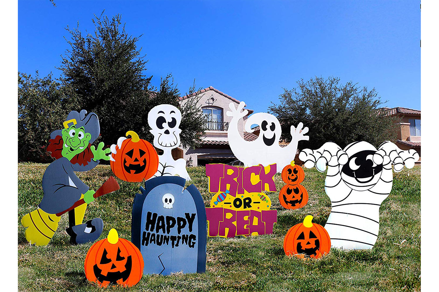 Friendly Halloween Yard Stake Signs
