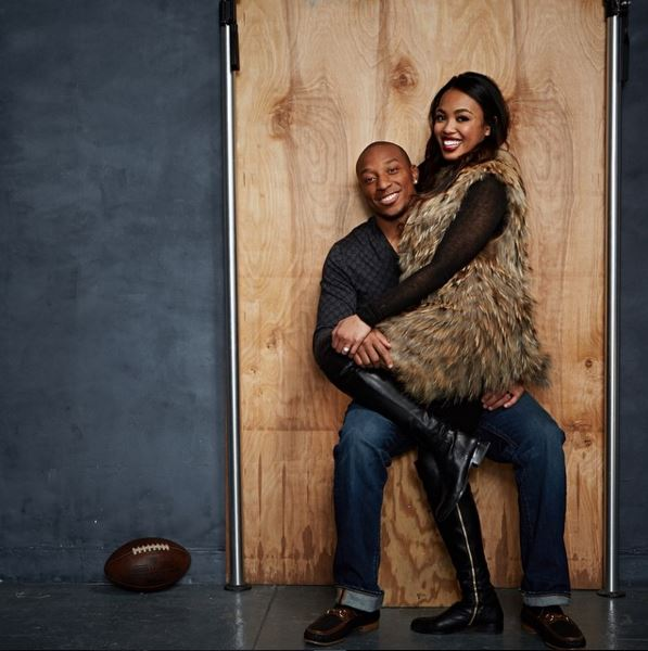Chris Harris Jr. with his Wife Leah