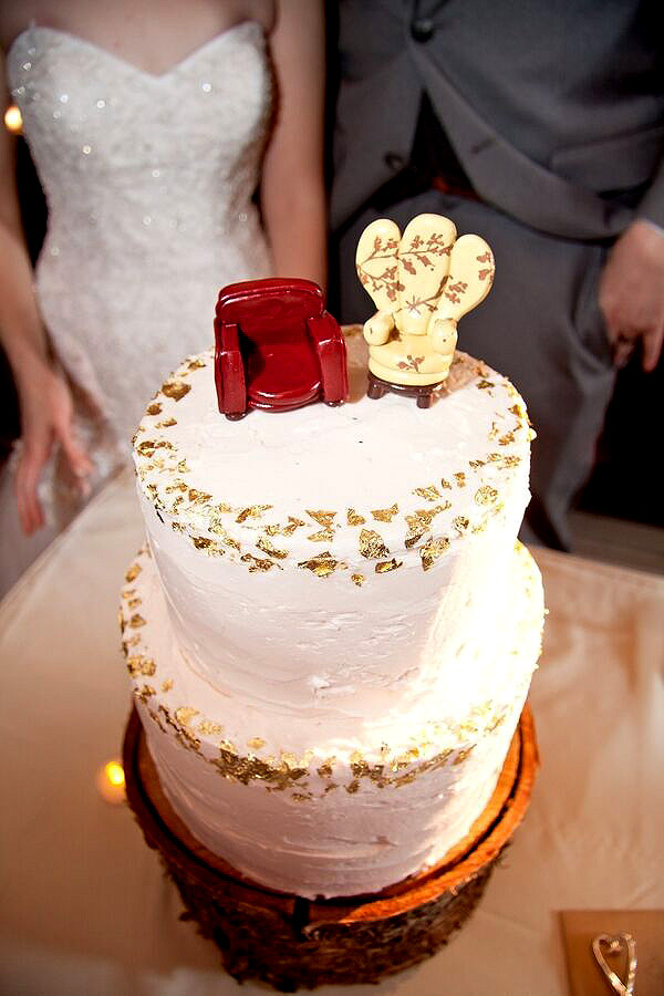 Wedding Cake with Chairs from Up