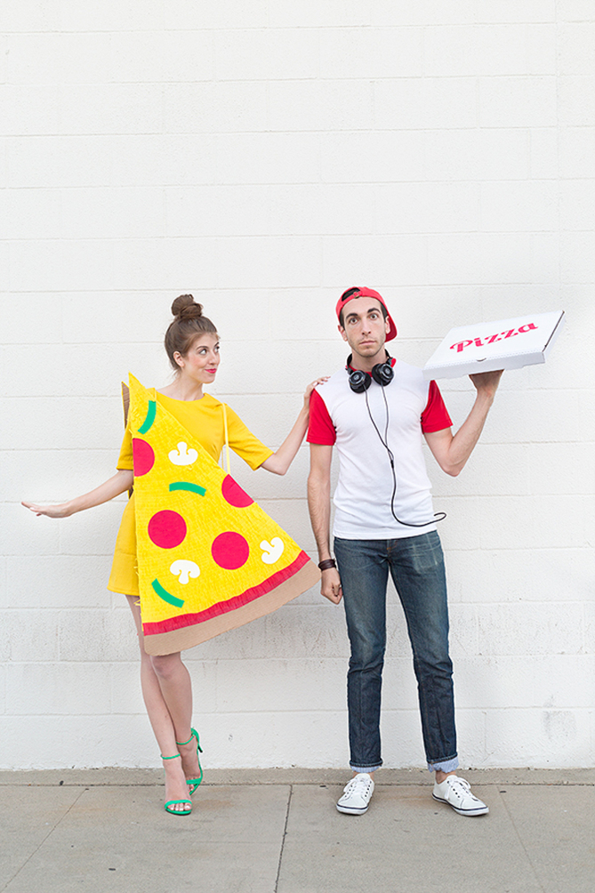 Pizza Slice and Pizza Delivery Boy Halloween Costume
