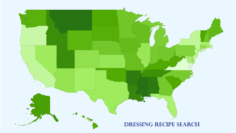 Dressing Recipe Search Map