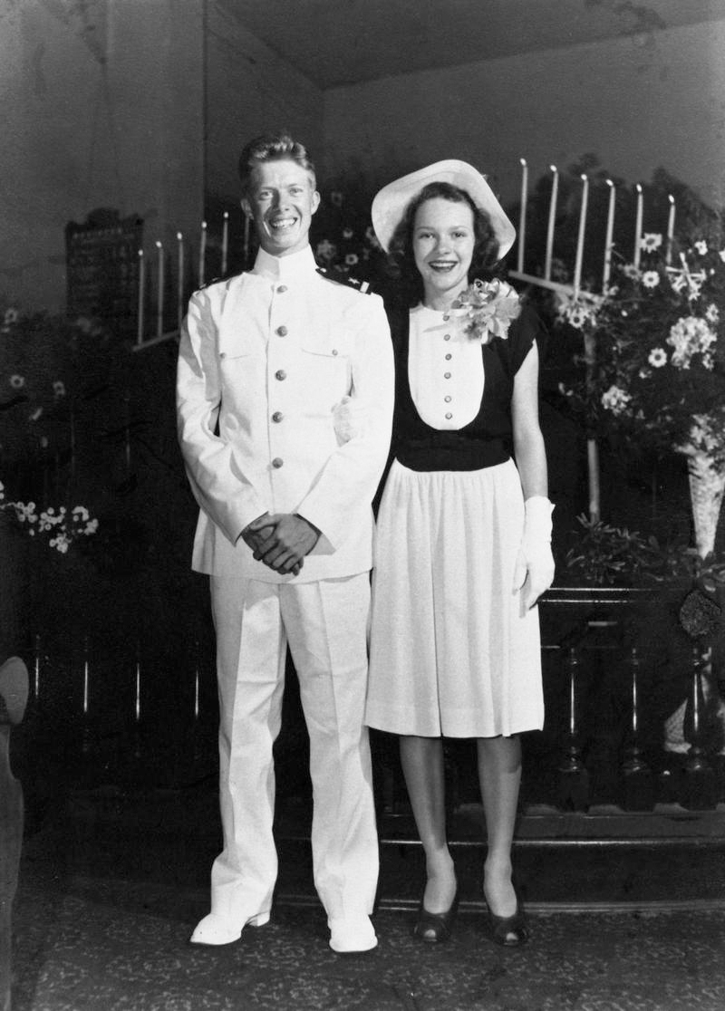 Jimmy and Rosalynn Carter Wedding