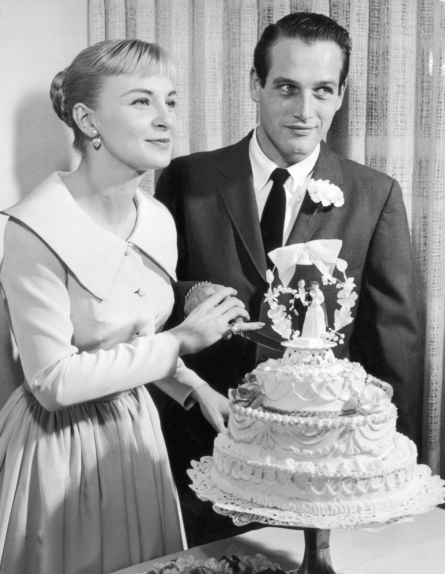 Paul Newman and Joanne Woodward Wedding