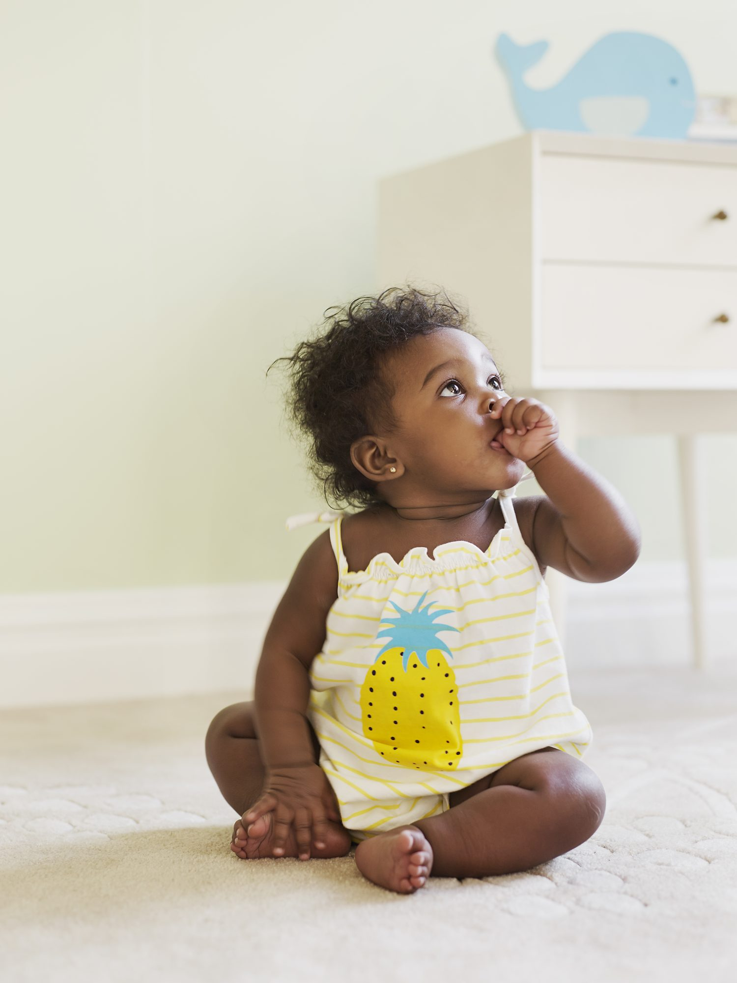 Baby in Cute Pineapple Dress