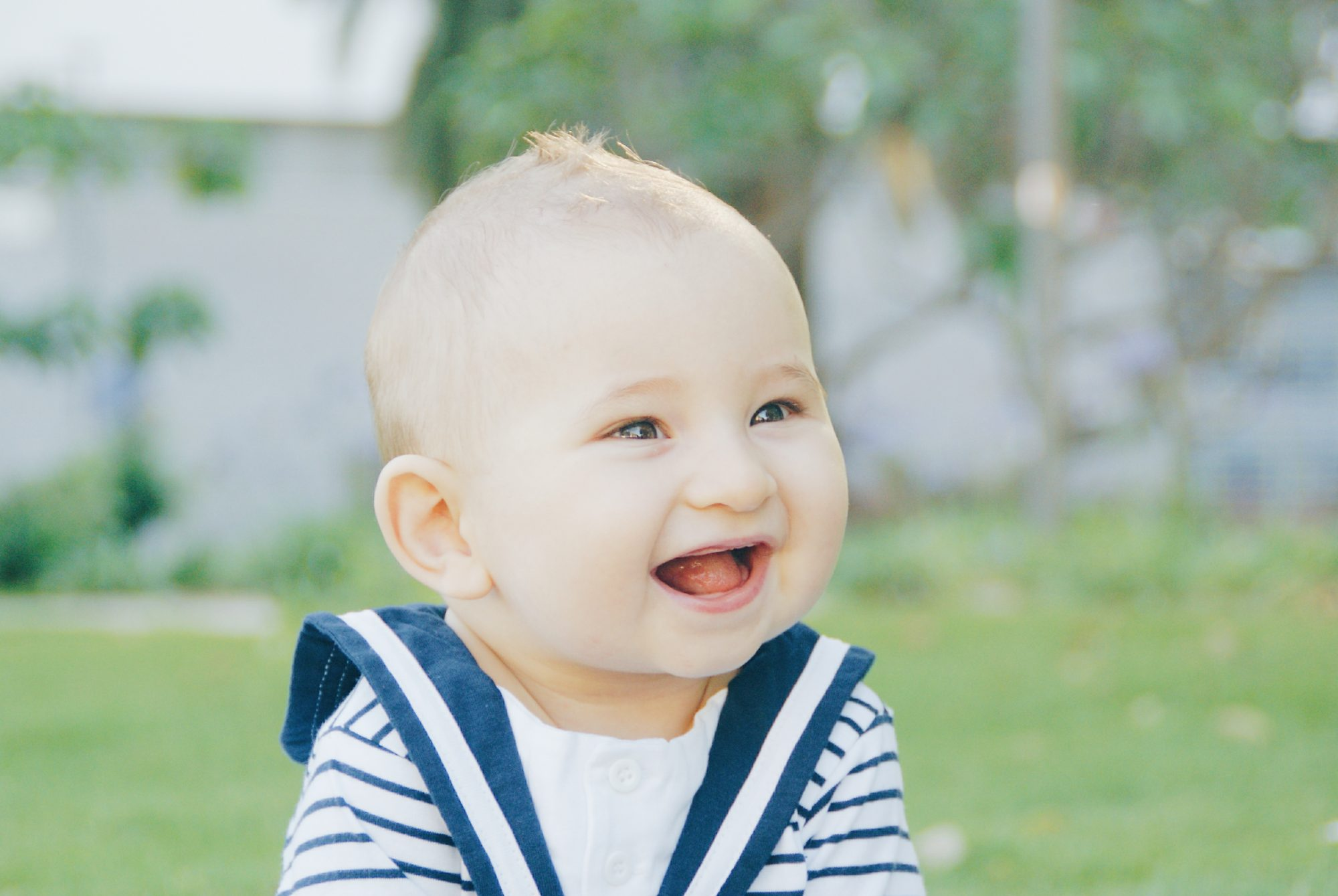 Baby Laughing Outdoors