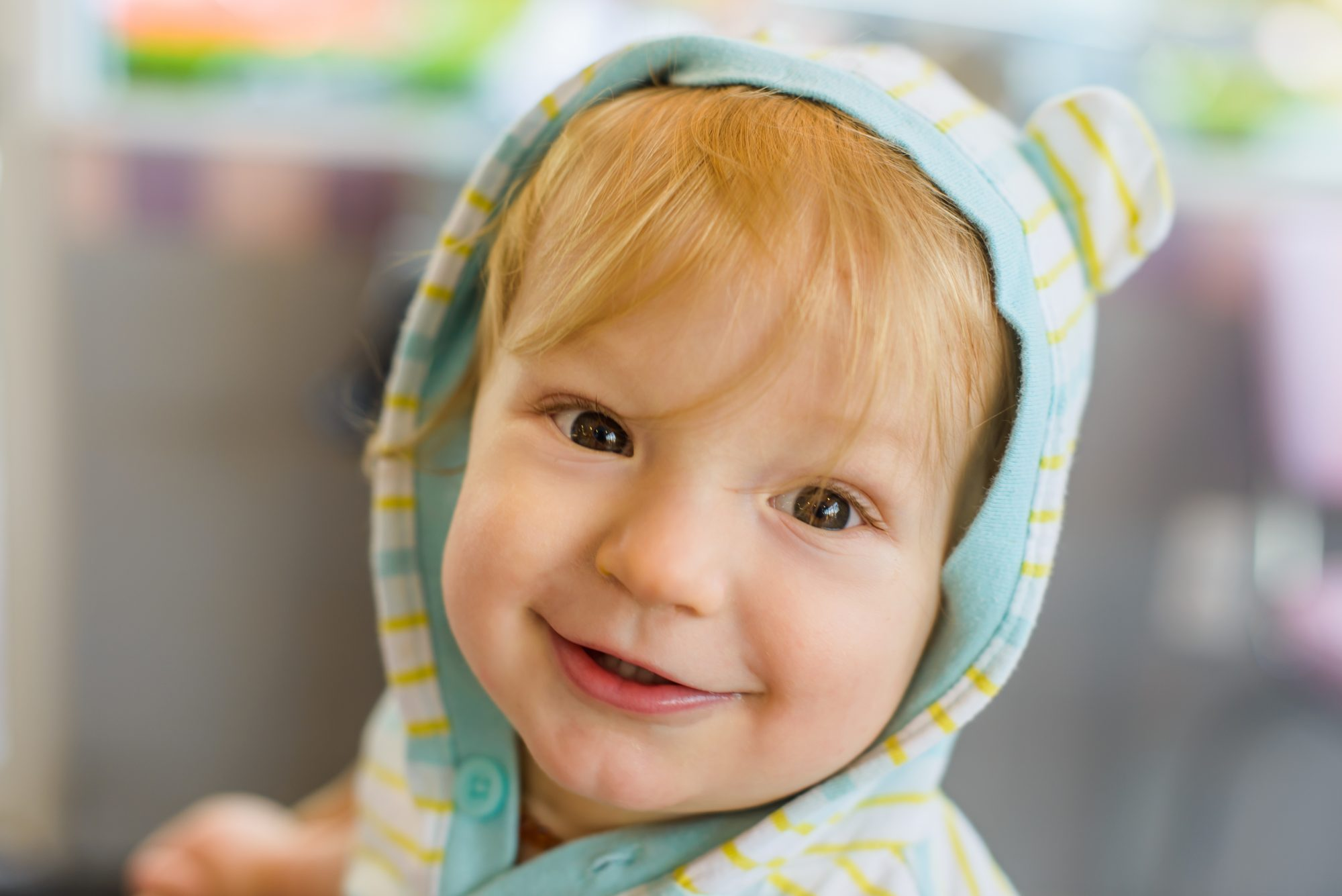 Baby in Hooded Pajamas
