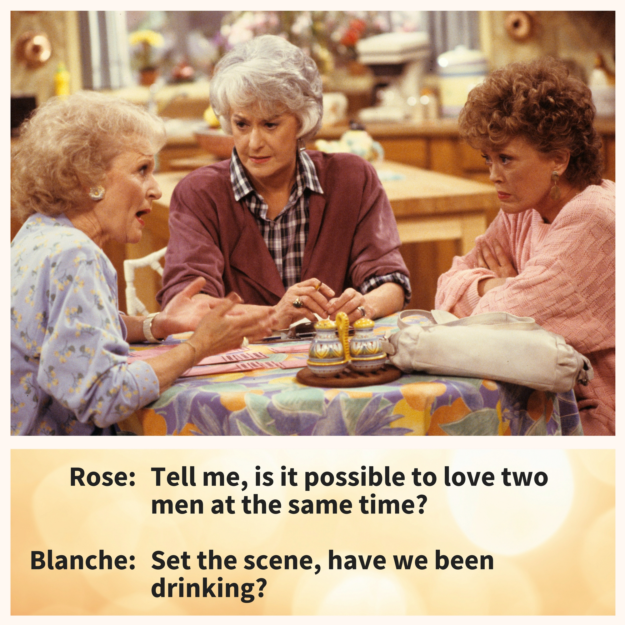 Blanche, being Blanche.