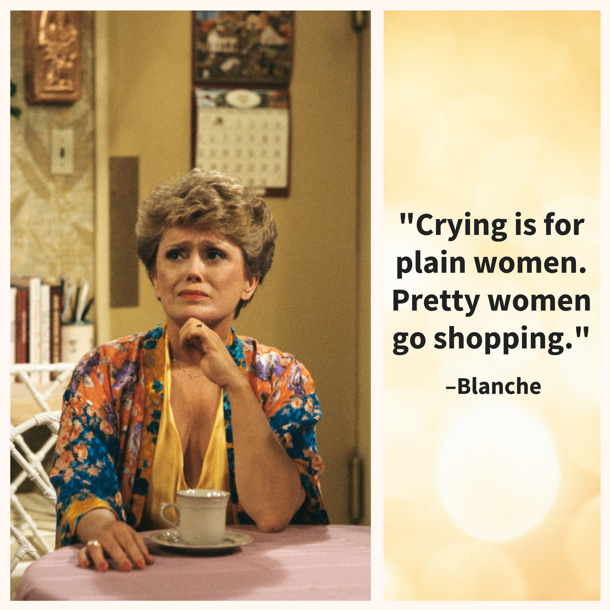 Blanche, giving us the perfect excuse to shop.