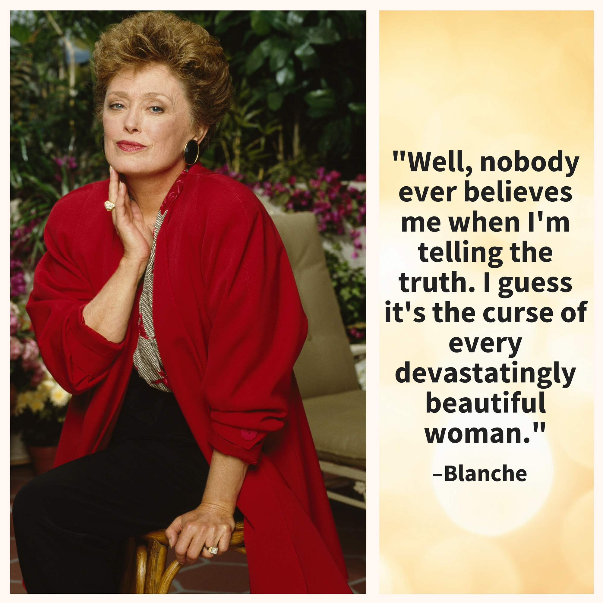 Blanche, showing her  humility.