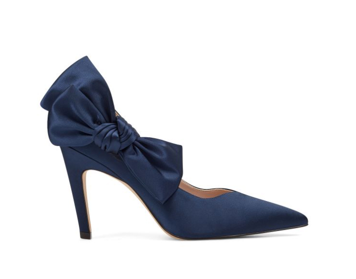 Blue Shoes with a Satin Bow