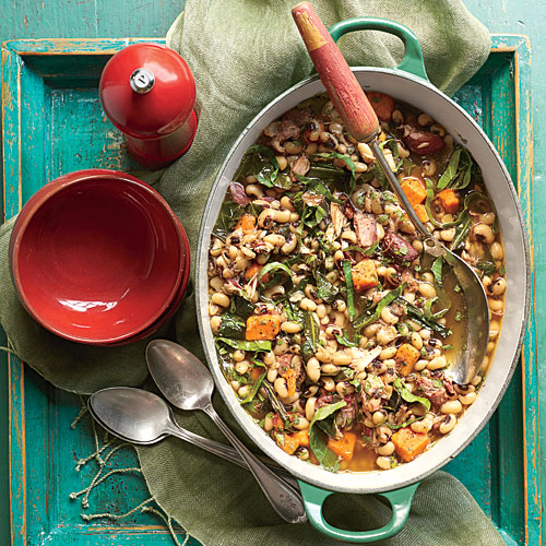 Black-Eyed Pea, Collard, and Sweet Potato Stew
