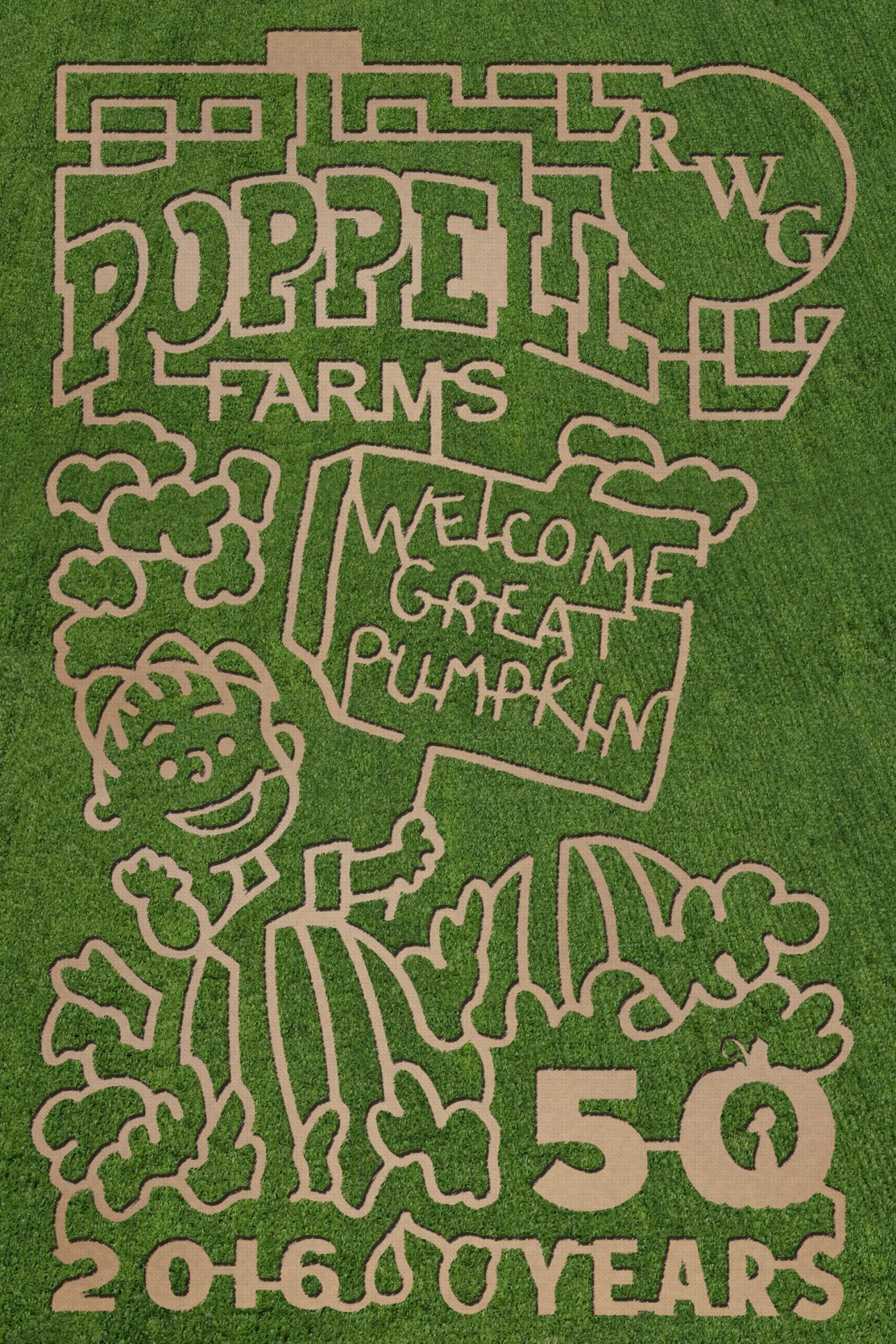Poppell Farms Corn Maze in Odum, GA