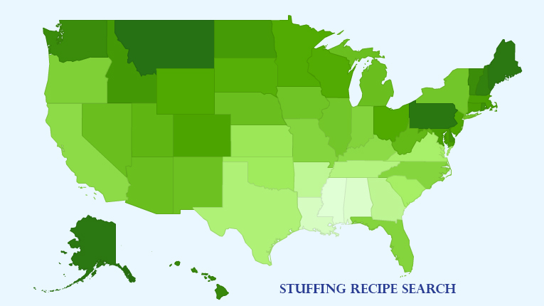 Stuffing Recipe Map Search