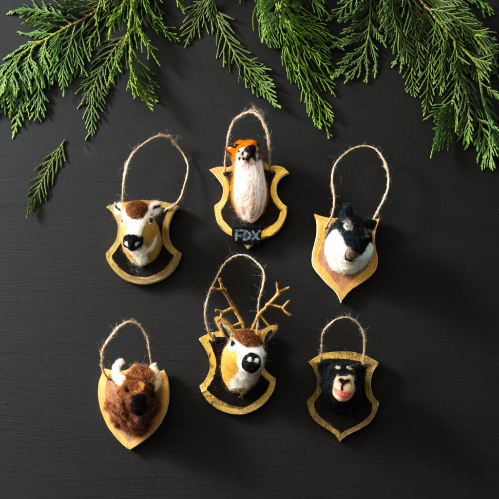 Felt Woodland Plaque Ornaments
