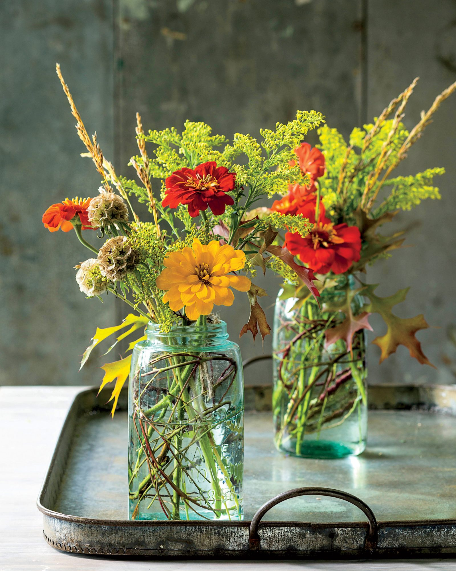 Goldenrod Fall Flower Arrangement