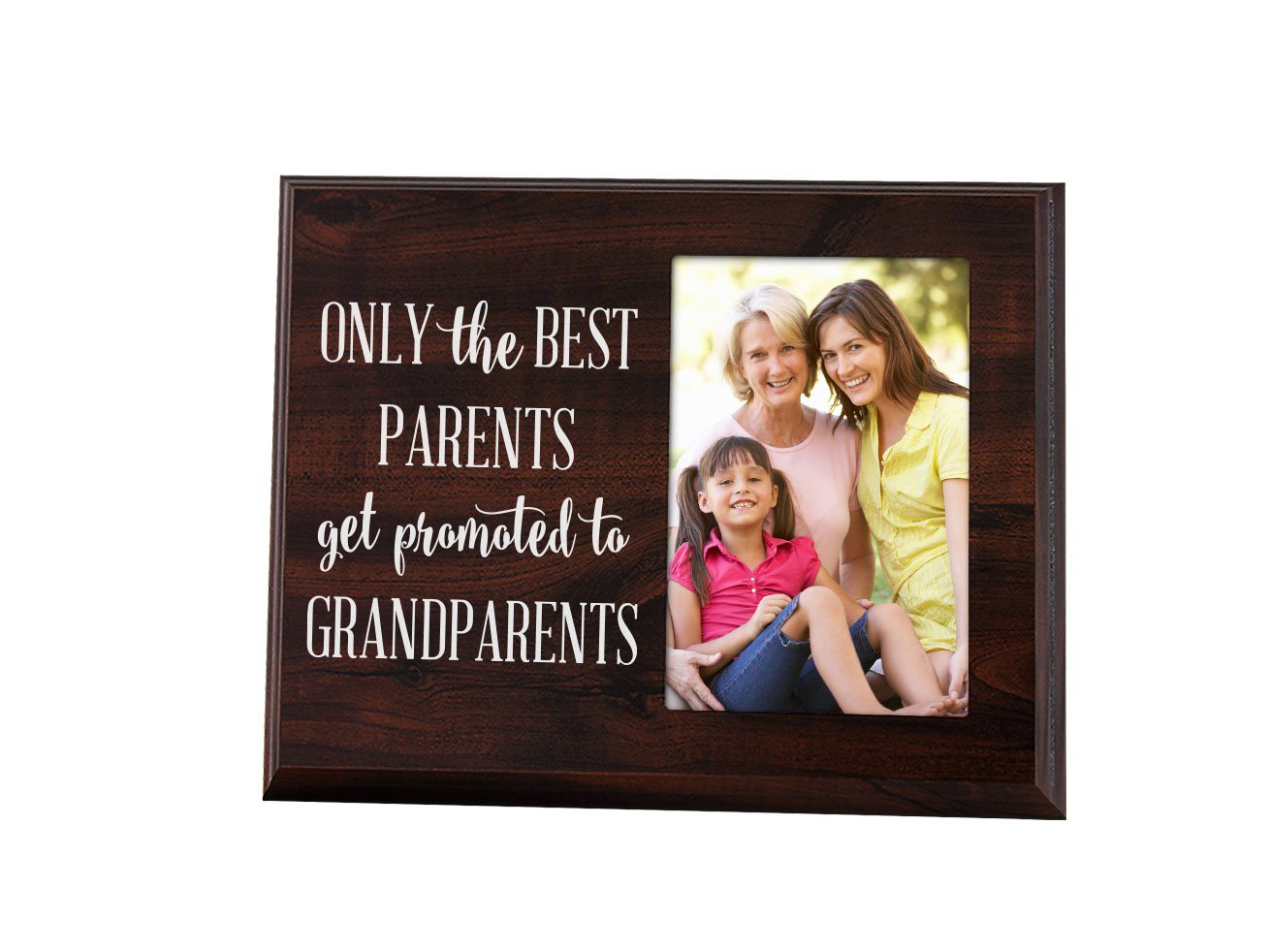 The Best Parents Get Promoted to Grandparents Picture Frame