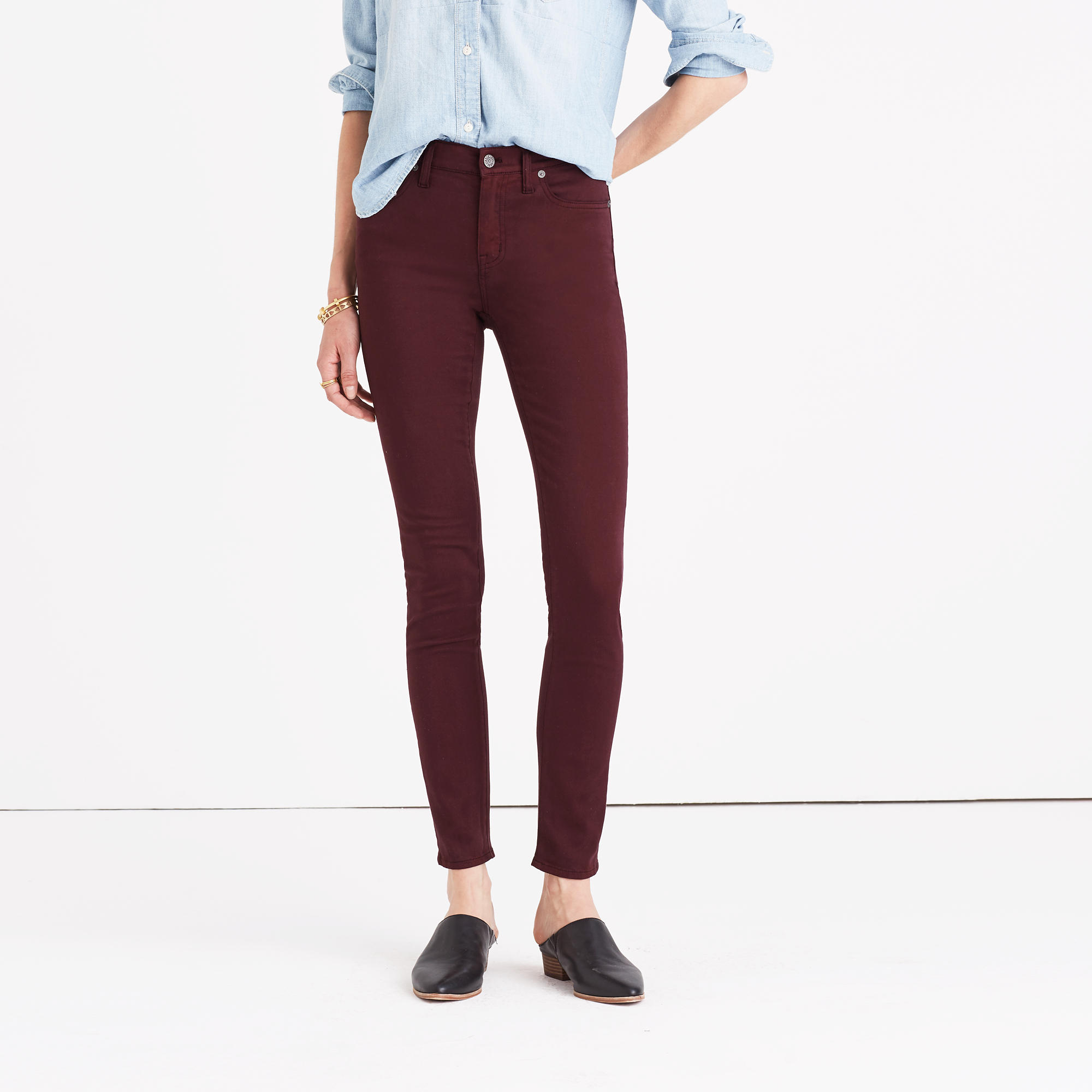 Thanksgiving Pants High-Rise Skinny Sateen Jeans